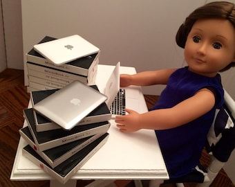 """Laptop for the American Girl 18"""" Doll. A faux Apple MacBook Pro computer!"""