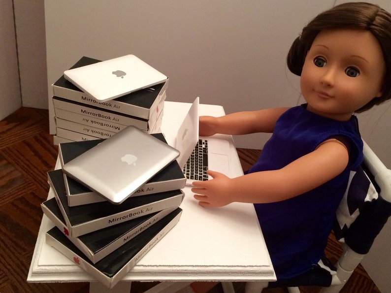Laptop for the American Girl 18 Doll. A faux Apple image 0