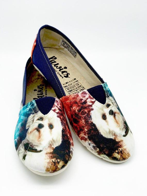 MALTESE SHOES Maltese animal lovers woman shoes dog  bc01417f9249