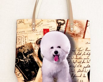 BICHON FRISE Tote bag,  tote bag, animal lovers, dog lovers.