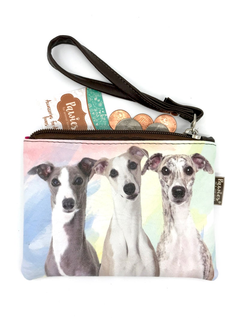 Whippet Coin Purse \u2022 Whippet \u2022 Vegan leather coin purse \u2022 Vegan Leather  \u2022 Wristlet coin purse \u2022 Animal Lovers