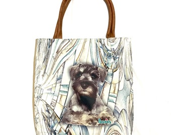 Schnauzer Tote bag,  tote bag, animal lovers, dog lovers, dog lover, pawies, gift