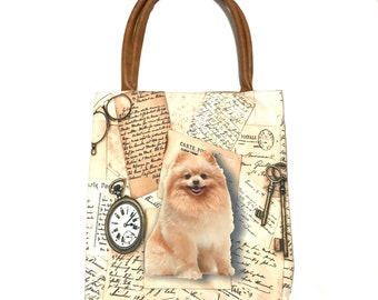 Pomeranian Tote bag,  tote bag, animal lovers, dog lovers, dog lover, pawies, gift