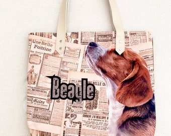 Beagle Tote bag,  tote bag, animal lovers, dog lovers, dog lover, pawies