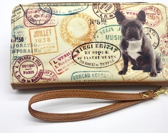 FRENCH BULLDOG WALLET!! Women's wallet, animal Lovers, dog lovers, pinscher lovers.