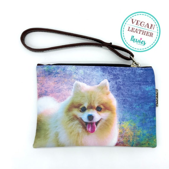 New Pomeranian Dog Zippered Handy Pouch Make-up//Coin Purse 3 Pomeranians Dogs