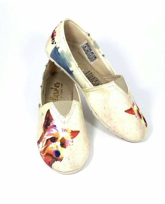 Yorkie Shoes Women Shoes Dog Lovers Dog Breeds Yorkshire Etsy
