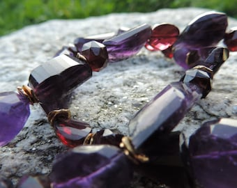 Necklace with Amethyst and Garnet