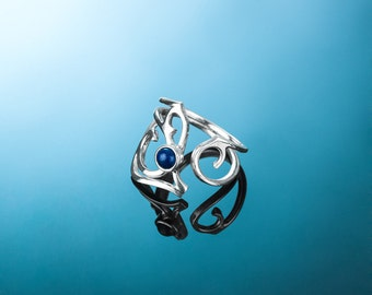 Silver ring AINE204A. Ajustable silver ring AINE204A.