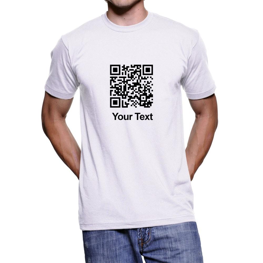 Custom Qr Code T Shirts Customized T Shirts Unisex T Shirt Etsy