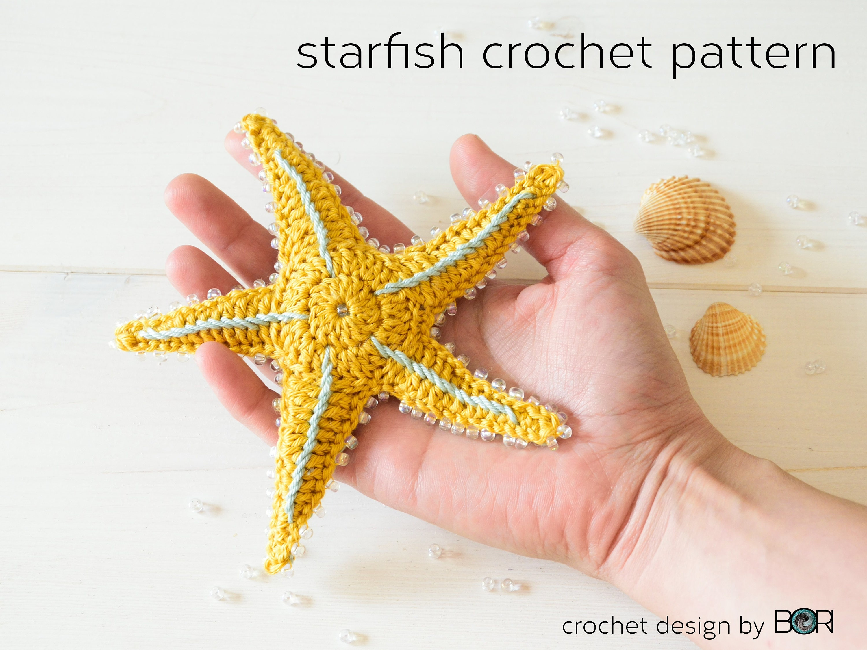 Crochet Starfish Pattern Sea Star Pdf Download Easy Diy Etsy