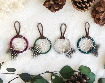 Vintage Christmas Petite Dream Catcher Ornaments (Set of 4)