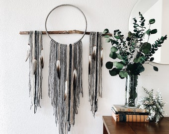 Rarefied Air Dream Catcher in Sweater Weather - Macrame Wall Hanging - Boho Wall Art - Large Dreamcatcher for Bedroom - Home Decor Gift