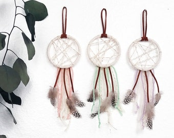 Nursery Dream Catcher Set, Boho Baby Shower Favor, Gift for New Parents, Baby Girl Room Decor, First Birthday Party Favor, Baby Dreamcatcher