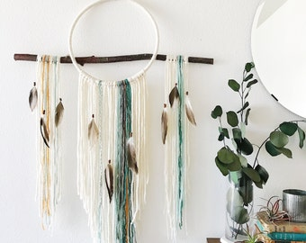 Rarefied Air Dream Catcher Wall Hanging in Sea Spray