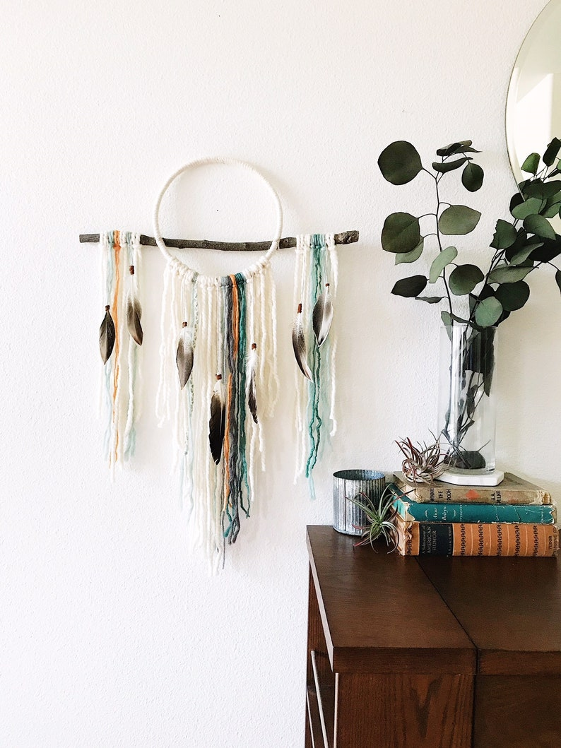 Boho Dream Catcher Wall Hanging image 0