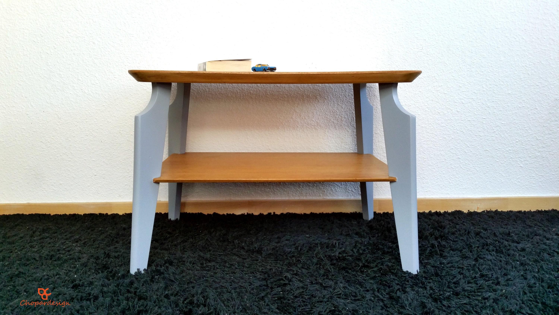 table basse vintage relook e ann e 50 etsy. Black Bedroom Furniture Sets. Home Design Ideas
