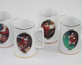 Collectors Coca Cola Christmas Mugs