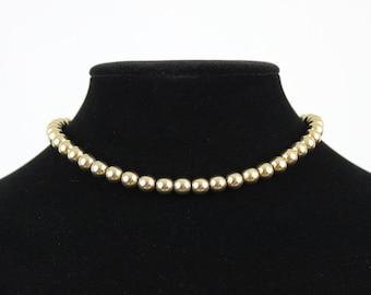 Vintage Monet Gold Tone Beaded Necklace