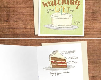 Funny gluten card etsy paleo birthday card for the gluten free eater greeting card for crossfit fitness nutrition weight loss low carb det m4hsunfo