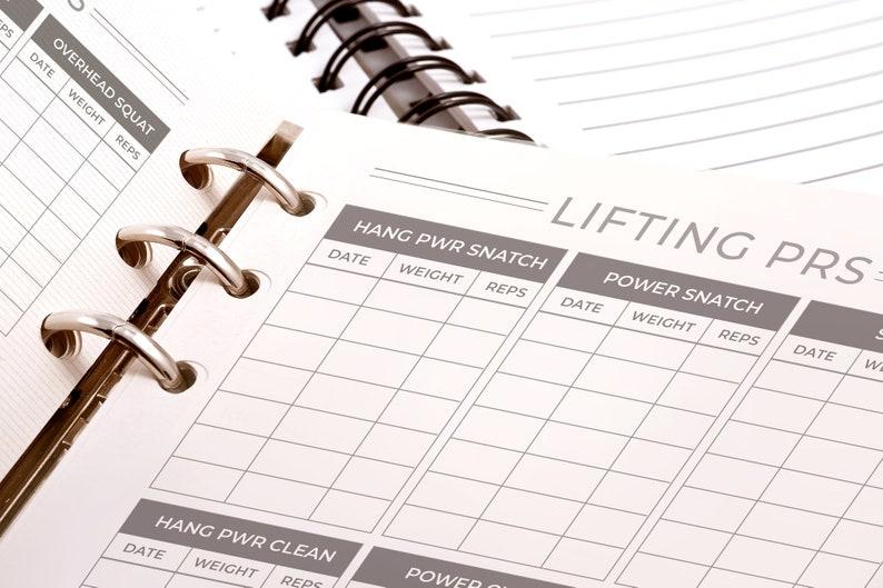 CrossFit WOD Logging Journal - Workout Logging Printable PDF Journal