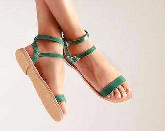 2d43de159f1 Greek leather sandals