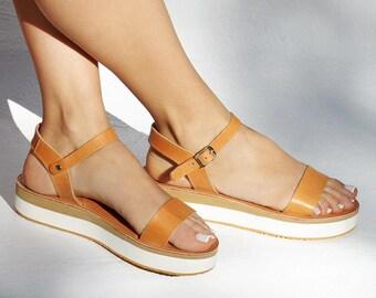 baa3db7efe Sandals, Leather sandals, Greek sandals, Leather sandals women, Platform  sandals, Platform shoes, Leather sandals women, YASEMI