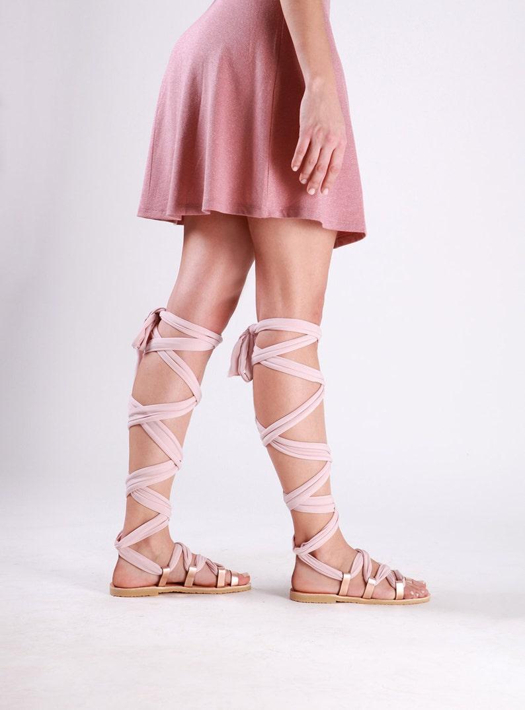 8fc580532a68 Gladiator sandals Lace up sandals Greek sandals Wedding