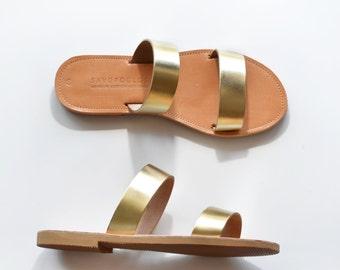 Sandals, Leather sandals, Greek sandals, Leather sandals women, Women sandals, Gold sandals, , ARCHAIKO