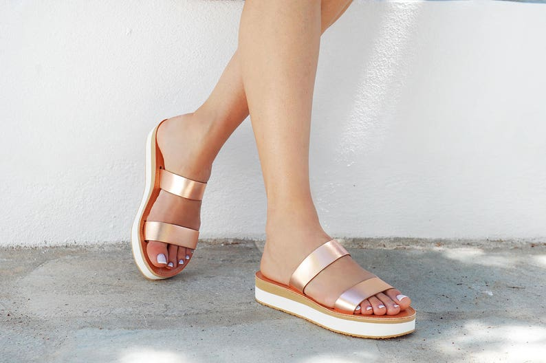 800f63008cf Sandals Leather sandals Rose gold sandals Greek sandals