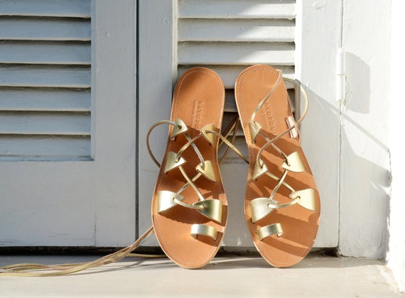 Greek leather sandals, Gladiator Sandals, Lace up sandals, Women sandals, Leather sandals, Sandales grecques, SPARTI