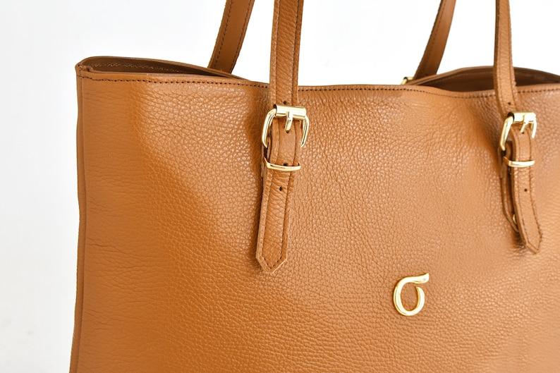 Tote bag for women Shoulder bag women Leather tote with zipper Leather tote bag Brown tote bag leather
