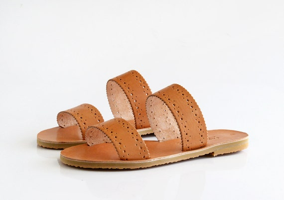 MIRANDA. Leather sandals, Two strap sandals, Greek sandals women