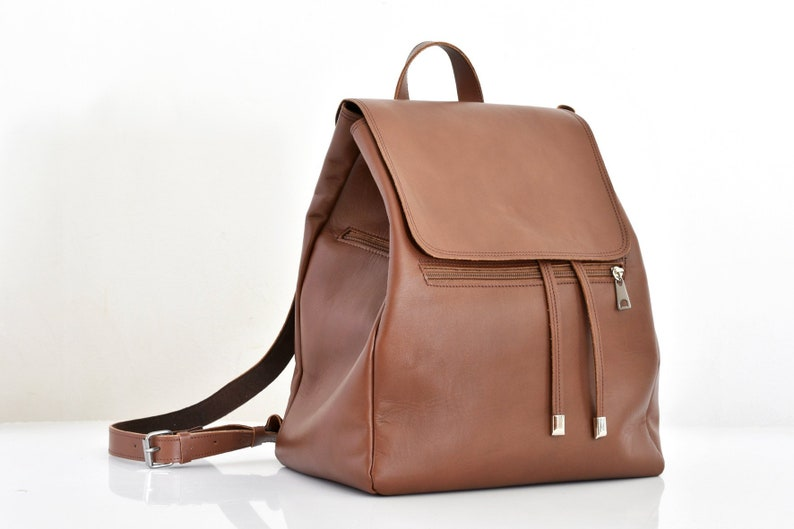 96038f9a44 Luxury leather backpack Leather backpack women Brown leather