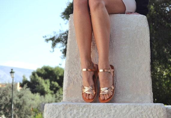 Sandals, Wedding sandals, Leather sandals, Greek sandals, Leather sandals women, Rose gold sandals, MEDUSA