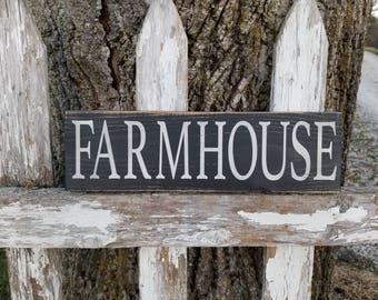 Farmhouse shelf sitter sign