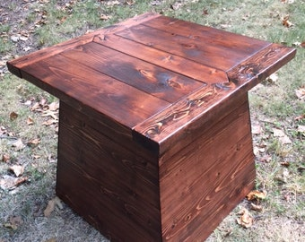 Craftsman Style Plinth End Table