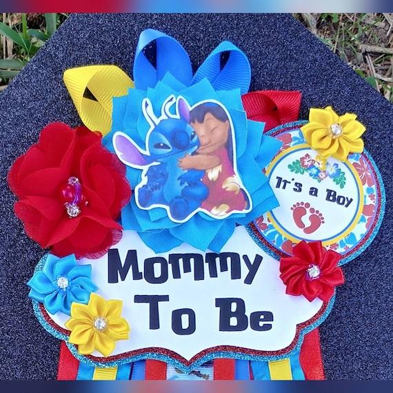 Baby Boy Lilo And Stitch Themed Mommy To Be Baby Shower Etsy