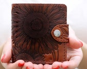 Sunflower Wallet Womens Bifold Slim Wallet Women