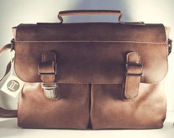 Mens messenger bag / Brown messenger bag men / Shoulder bag men / Leather briefcase / Leather laptop bag / Leather briefcase men