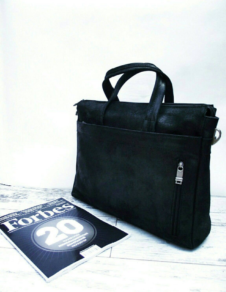 Leather briefcase men 13 inch laptop bag big leather bag gift for traveler FREE SHIPPING