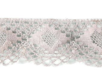 Notions - 1 set 4.20 m length with a lace, Ecru - Made in France