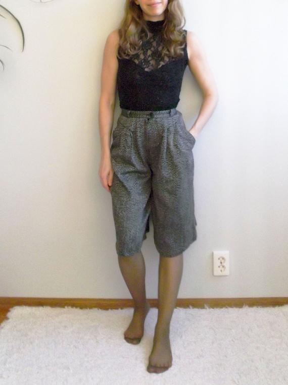 breathe Vintage Gray Wool Culottes High Waist Culo