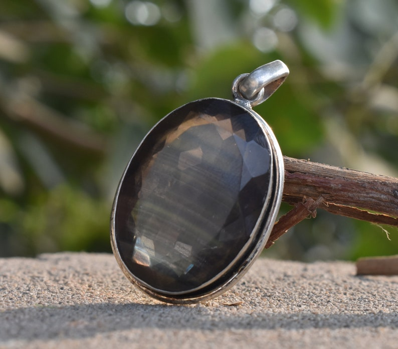 Multi Fluorite Pendant 92.5/% Sterling Silver Jewelry Pendant Height 15.16 gm Healing Gemstone 43.3 mm Pendant Width 24.2 mm Weight