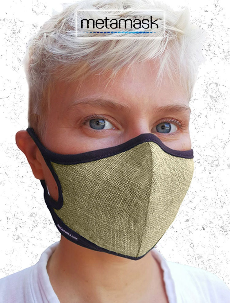 dc3aad530f9 Natural Linen Air Pollution Face mask w  Organic Bamboo
