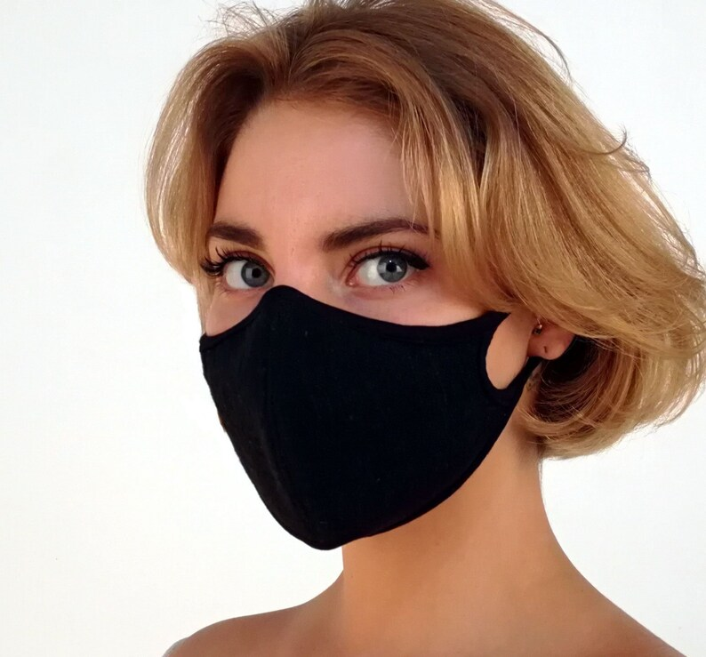 5f0d4839f25 Air Filter mask w  linen fabric   native plant dye. 99.9%