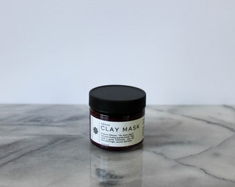 Hibiscus Honey Face Mask: hibiscus mask, manuka honey mask, brightening mask, exfoliating mask, honey face mask, clay mask