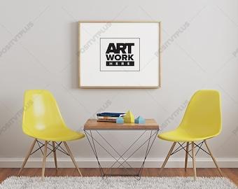 Download Free Frame Mockup Landscape / Industrial frame mockup / Poster Frame Photography Style / landscape Mockup / Poster Mockup / Minimalist Mockup PSD Template