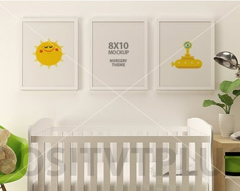 8x10 Mockup / Frame Mockup / Nursery Mockup / 8x10 picture frame / 8x10 photo frame / white 8x10 frame