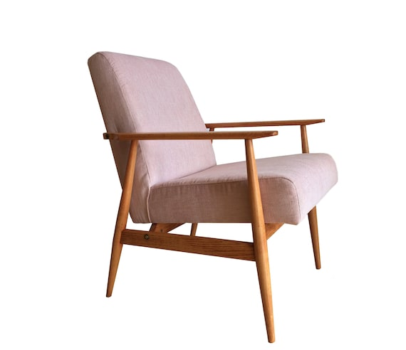 Mid Century Modern Contemporary Danish Pink Swivel Lounge Armchair 2 Available